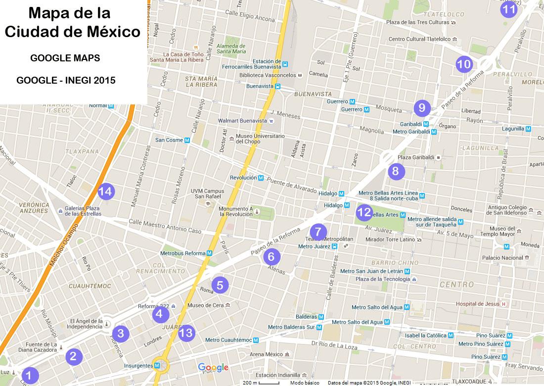Paseo de la reforma 1864 2015 mexico for Cajeros cerca de mi ubicacion