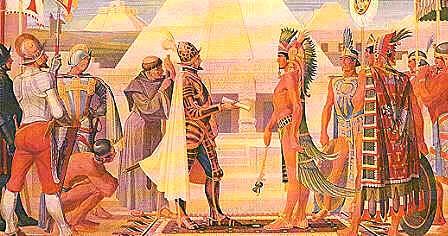 Gran Tenochtitlan El Encuentro De Cortés Y Moctezuma