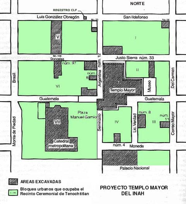GRAN TENOCHTITLAN, Centro Ceremonial y Templo Mayor