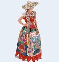 En torno al vestido de la china poblana se conocen legendarias