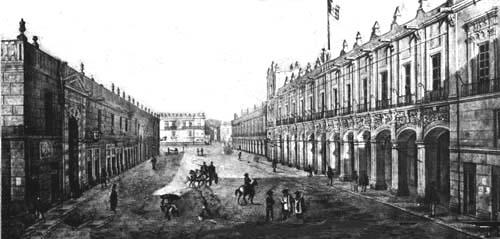 El zocalo de la ciudad de mexico primera parte 1555 1876 for Casas de la epoca actual